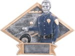 Law Enforcement Diamond Plate Resin  Fireman/Police & Safety Awards