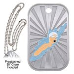 Swimming  GL Series Dog Tags