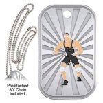 Wrestling  GL Series Dog Tags
