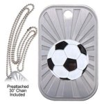 Soccer  GL Series Dog Tags