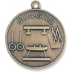 Gymnastics Medal Bronze Gymnastics Awards