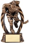 Antique Bronze and Gold Hockey Female Award Hockey Awards