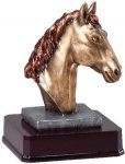 Bronze Finish Horse Head Award Horse/Equestrian/Dressage  Awards