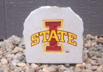 IOWA STATE CYCLONE DESK STONE WITH LOGO IOWAS STATE CYCLONES