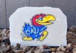 KU JAYHAWK MEDIUM PORCH STONE KANSAS JAYHAWKS