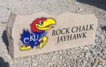 ROCK CHALK JAYHAWK PORCH STONE KANSAS JAYHAWKS