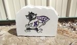 K-STATE WILLIE WITH PENNANT KANSAS STATE WILDCATS