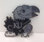 Decorative Car Emblem - Jayhawk  KU Jayhawk Merchandise