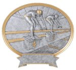 Legend Swimming Oval Award Legend Oval Resin Awards
