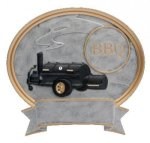 Legend BBQ Grill Oval Award Legend Oval Resin Awards