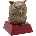 Owl Resin Mascot Resin Trophy Awards