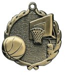 Wreath Basketball Medals Medals