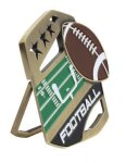 Football Color Medal Free Standing Or With Ribbon Medals