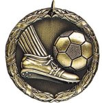 Soccer with Foot Medals