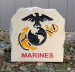 US MARINES EMBLEM STONE Military & Patriotic Collection