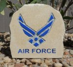 U.S. AIRFORCE DESK STONE WITH AIR FORCE EMBLEM MILITARY, PATRIOTIC & FIRST RESPONDERS