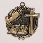 Wreath Religious Bible /Cross Medal Military/Patriotic/Religious Awards