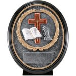 Christian Resin Oval Military/Patriotic/Religious Awards