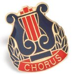 Chorus Lapel Pin Music/Band Awards