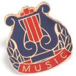Music Lapel Pin Music/Band Awards