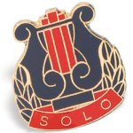 Solo Lapel Pin Music/Band Awards