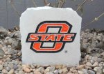 OKLAHOMA STATE COWBOY SMALL PORCH STONE WITH O-STATE LOGO ONLY OKLAHJOMA STATE COWBOYS