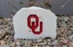 OKLAHOM SOONER MEDIUM  PORCH STONE WITH OU LOGO OKLAHOMA SOONERS