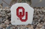OKLAHOMA SOONER DESK STONE WITH OU LOGO OKLAHOMA SOONERS