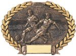 Soccer Plate Oval Wreath Resin Trophy Award