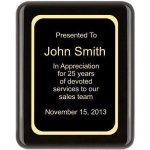 Piano Finish, Round, Black Piano Finish Plaques