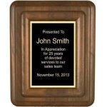 Floating Solid Walnut Plaque Premium Wood Plaques