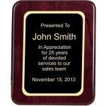 Piano Finish, Round, Red Recognition Plaques
