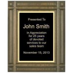 Deep Groove Solid Walnut Plaque Recognition Plaques