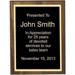 Roman Edge Solid Walnut Plaque Recognition Plaques