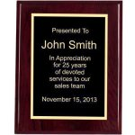 Piano Finish, Square, Red Recognition Plaques