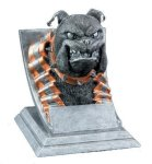 Bulldog Mascot Resin Trophy Awards