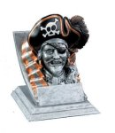 Pirate Mascot Resin Trophy Awards