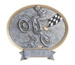 Legend Motocross Oval Award Resin Trophy Awards