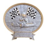 Legend Go-Kart Oval Award Resin Trophy Awards