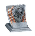 Wolf Mascot Resin Trophy Awards
