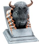 Buffalo Mascot Resin Trophy Awards