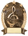 5 Star Oval -Music Resin Trophy Awards