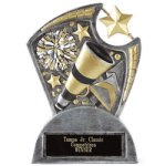 Large Spin Award Cheer Resin Trophy Awards