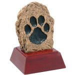 Paw Print Resin Resin Trophy Awards