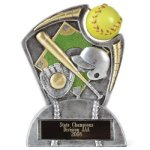 Large Spin Award Softball Resin Trophy Awards