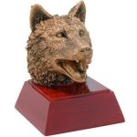 Wolf Resin Resin Trophy Awards