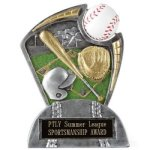 Large Spin Award Baseball Resin Trophy Awards