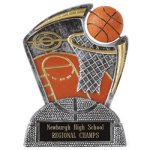 Large Spin Award Basketball Resin Trophy Awards