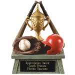 Vintage Trophy Award Baseball Resin Trophy Awards