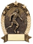 5 Star Oval Soccer Resins & Trophies